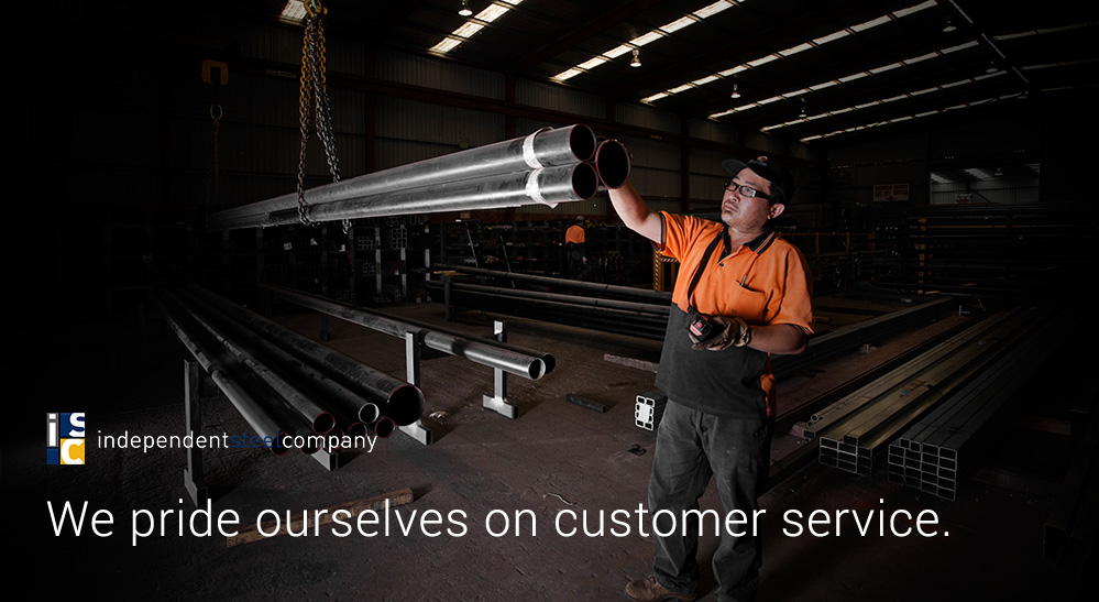 We pride ourselves on customer service.